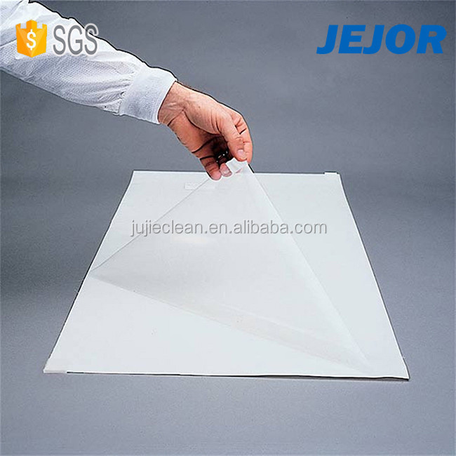 Work Place Entrance White Peelable Sticky Gel Mat To Clean Stride