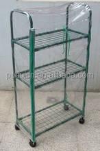 3 Tier With Wheel Garden Storage Rack Greenhouse