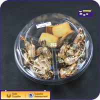 Clear PET Plastic Dried Fruit Packaging Trays / Clamshell Container For Fruit And Vegetable