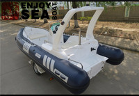 Rigid inflatable boat rib hypalon boat dark blue and light grey RIB-580 with CE certificate for sale!!!