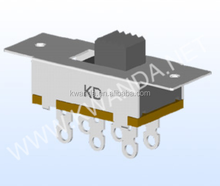 1.5a 250v ac electrical switch, slide switch 2p3t, defond switch 3 position