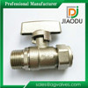 1/2 inch nickel plated Zinc alloy handle female brass ball valve for pex al pex pipes