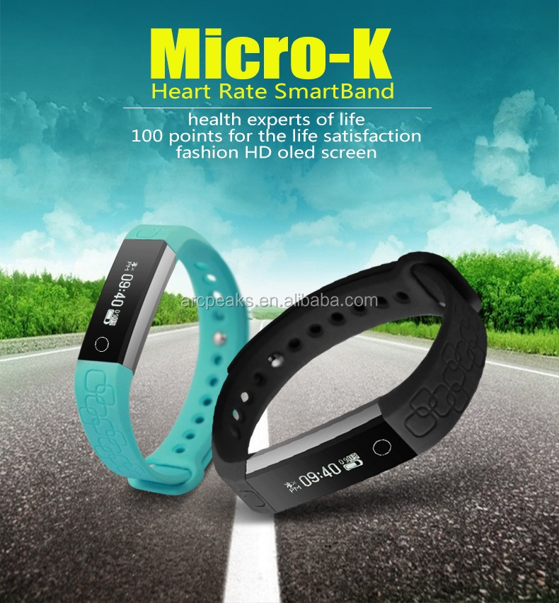 2017 newest smart bracelet metal body bracelet