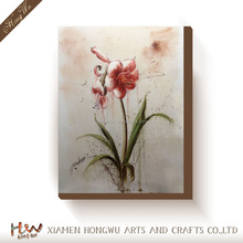 Chinese Simple Flower Canvas Oil Painting Design