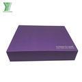 Recyclable purple hot stamping cardboard elegant custom paper gift boxes