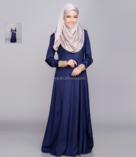 Hot sale fashion high quality satin sequin muslim wholesale abaya