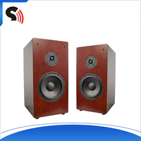 Discount Fashion 8'' 2-Way Professional Bookshelf Wood Sound Box Rechargeable Amplifier Speaker