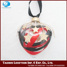 Hot selling good reputation high quality glass heart ornaments