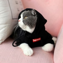 High quality good price fashion cool pure cotton pet cats dogs clothes hoodie
