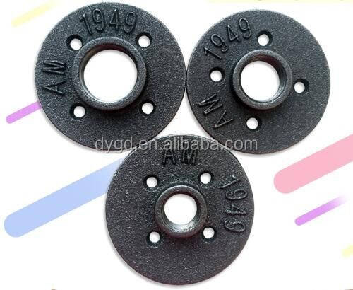 Malleable Iron Gas/Oil/Pipe Fitting Flanges/1/2'' 3/4'' Antique Finishing Malleable Iron Floor Flange for Plumbing