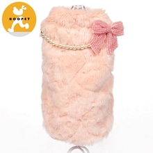 Winter Fur Cute Girl Dog Coat Clothes