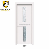 Sunz brand interior frosted glass french wood door