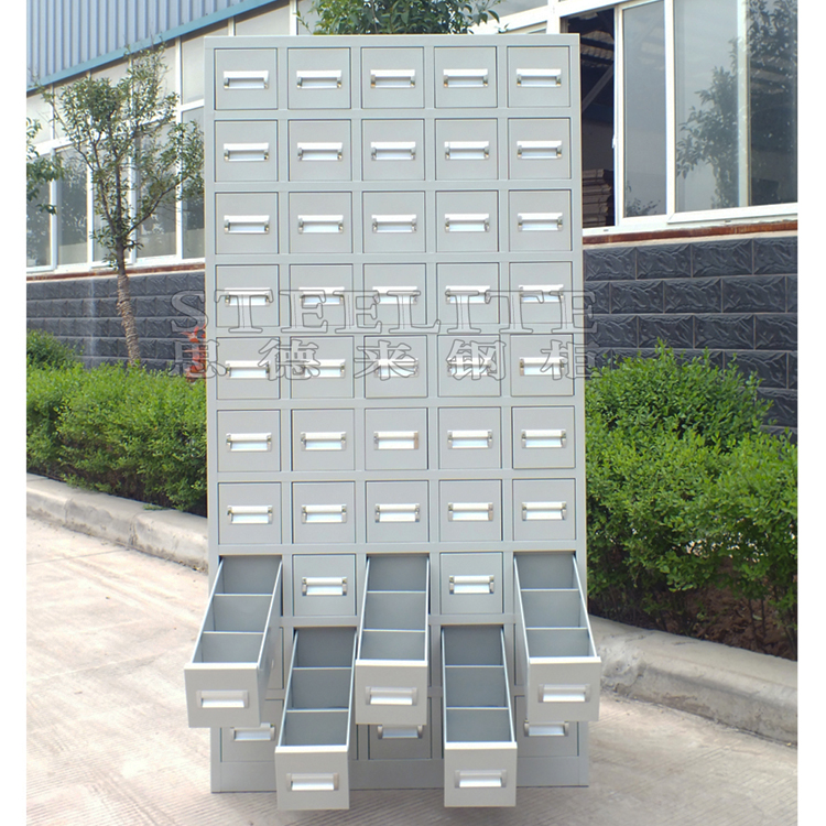 steel storage box 50 drawer cabinet motorcycle spare parts cabinet