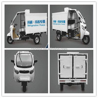 Best chill car bajaj three wheeler spare parts closed tricycle enclosed cabin tricycle with cargo box