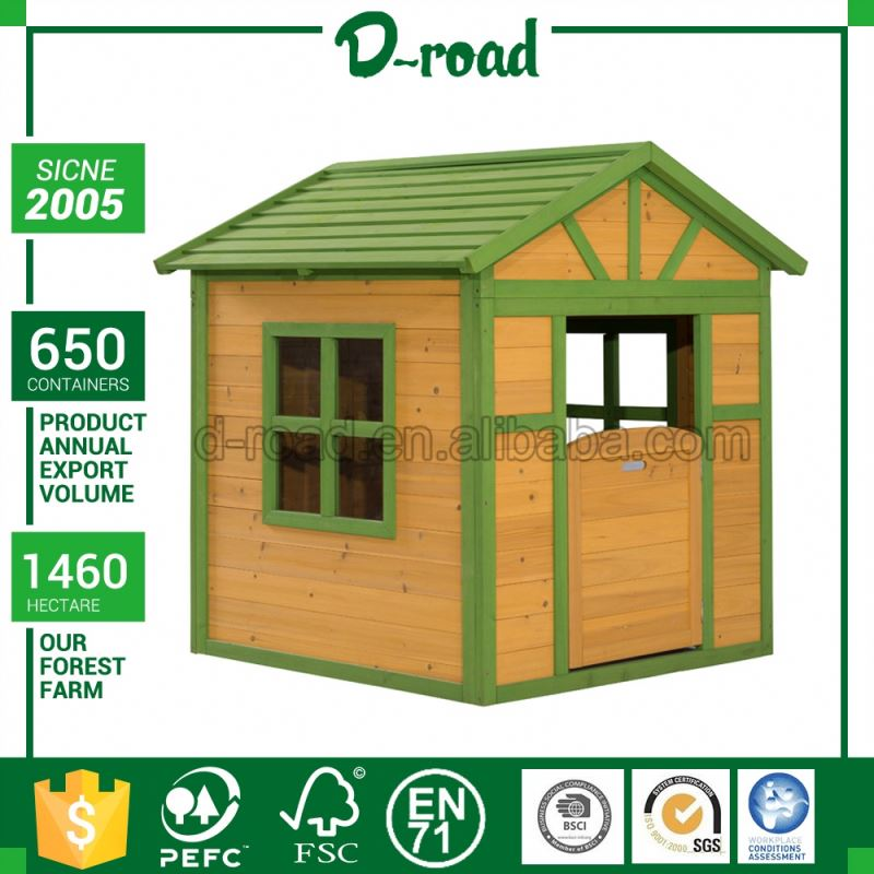 Lowest Cost Customizable Outdoor Wooden Cubby House