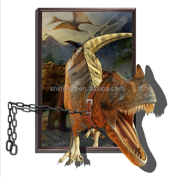 3d dinosaur floor stickers posters