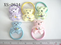 Lovely kids hair accessories cartoon mix colors ponytail holder