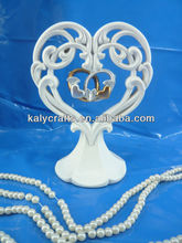 painting resin heart with rings cake topper wedding items