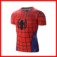 2015 New Unisex Breathable Spandex Sports Red Shirt Compression Wear, Compression Jersey