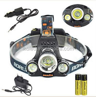 6000LM 3x XM-L T6 LED 18650 Headlamp Headlight Head Torch Light Lamp 3 Mode