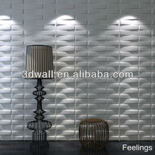 Interior embossed 3d modern wallpaper board and paintable 3d wall panels for project