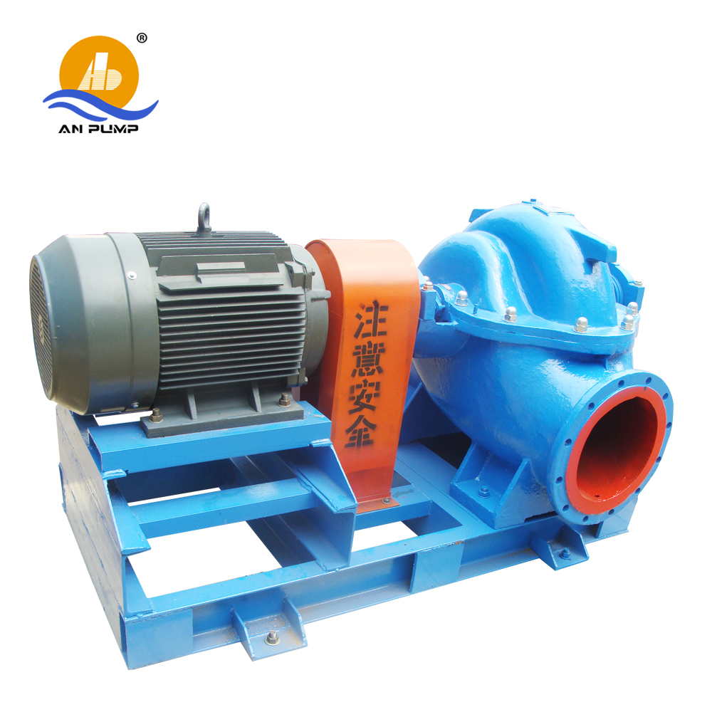 Horizontal split case centrifugal water pump with high efficiency