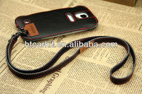 copyright Cell phone case For Samsung Galaxy S4 I9500 neck strap Genuine Leather Case