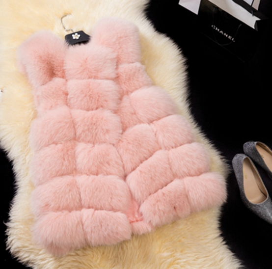 Customize Winter Fancy Womens/Girls Faux Fur Vest With Cheap Price