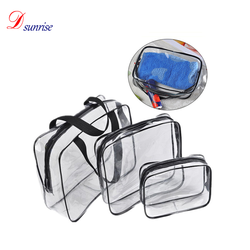 Hot sale high quality 3 pieces makeup bag cosmetic bags practical travel organizer