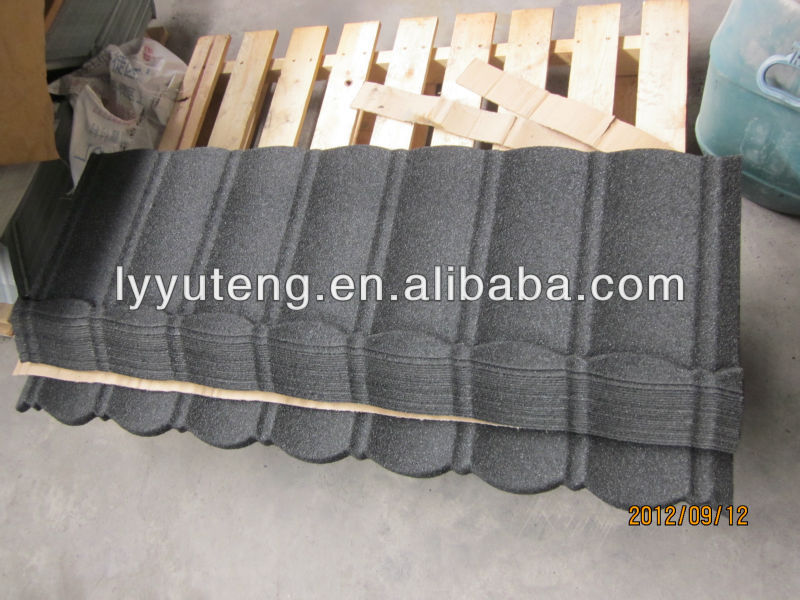 China stone chips coated steel tile / building material /metal roofing price