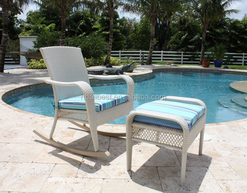 Rattan swimming pool chair beach chair rattan chair set used lounge furniture