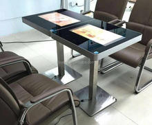 Dual screen 21.5 inch Android Touch Screen Coffee Table in restaurant/cafe shop