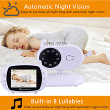 Wholesale Multifunction Bulit-in 8 Lullbies Wireless Smart Video Baby Monitor With Night Vision Camera