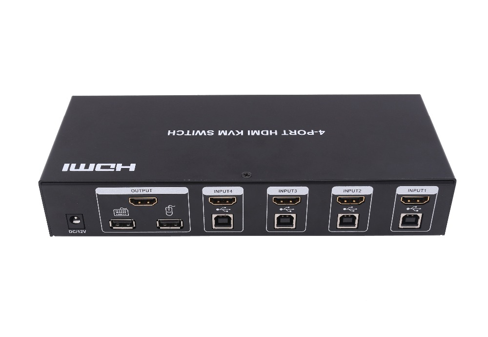4x1 KVM switch hdmi, Auto USB switching + keyboard hot keys, Support 3D 1080p