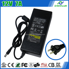 ZF120A-1207000 2.5mm 12V 7a 84W led strip power supply with UL.KC.SAA.GS.CE.CB.3C.NOM.ROHS certification