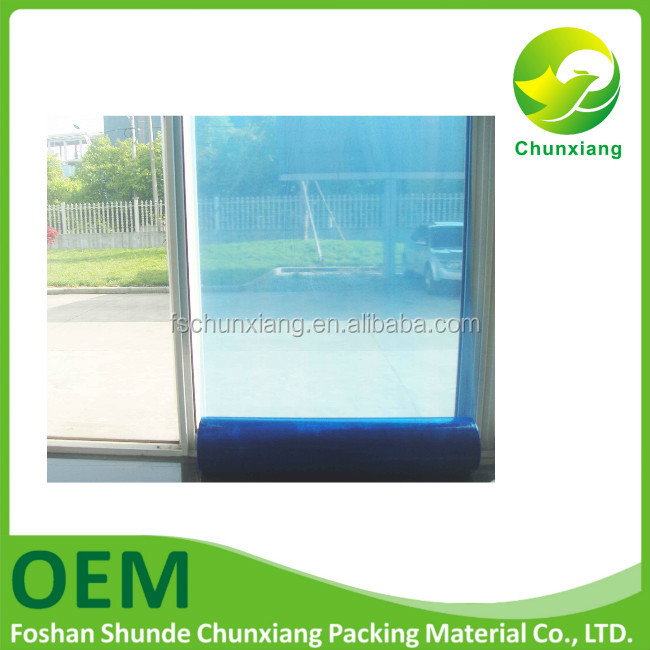 chinese supplier self adhensive pe blue protective film for window glass