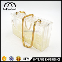Alibaba factory cheap price transparent acrylic bag for ladies party acrylic clutch bag JS1739