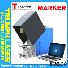 High marking speed 20watt 30 watt 50 w Portable mini fiber laser marking machine for engraving metals