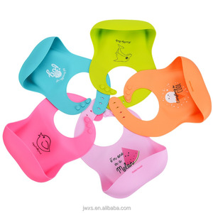 Waterproof Silicone Baby Bib,Baby Bandana Drool Bib,Training Dental Bib