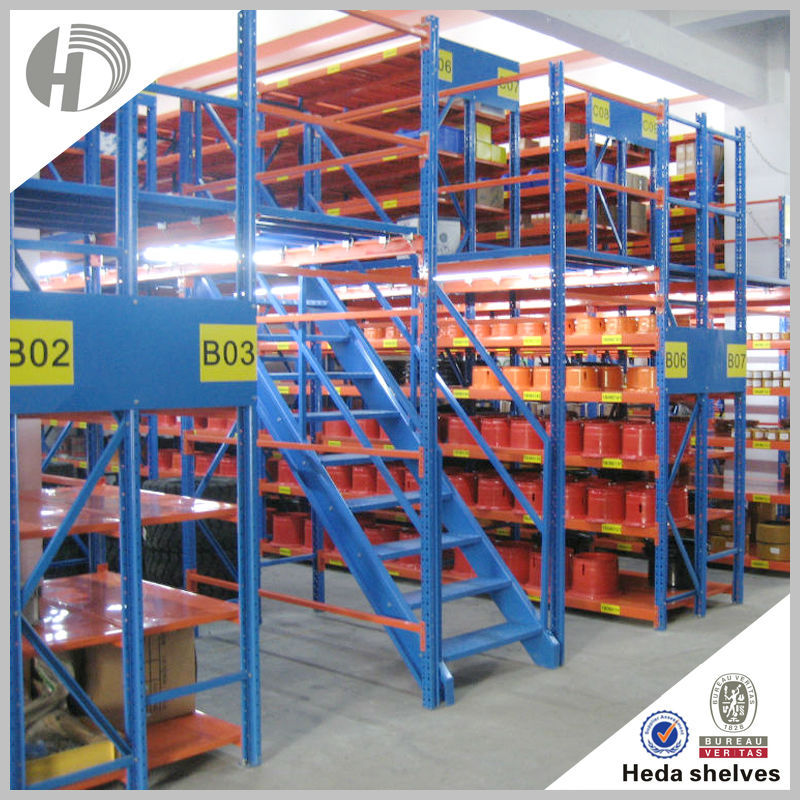 China manufacture cheap metal mezzanine shelf for industrial storage