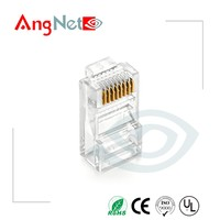 Gold plated cat5 cat6 network connector plugs rj45 leads