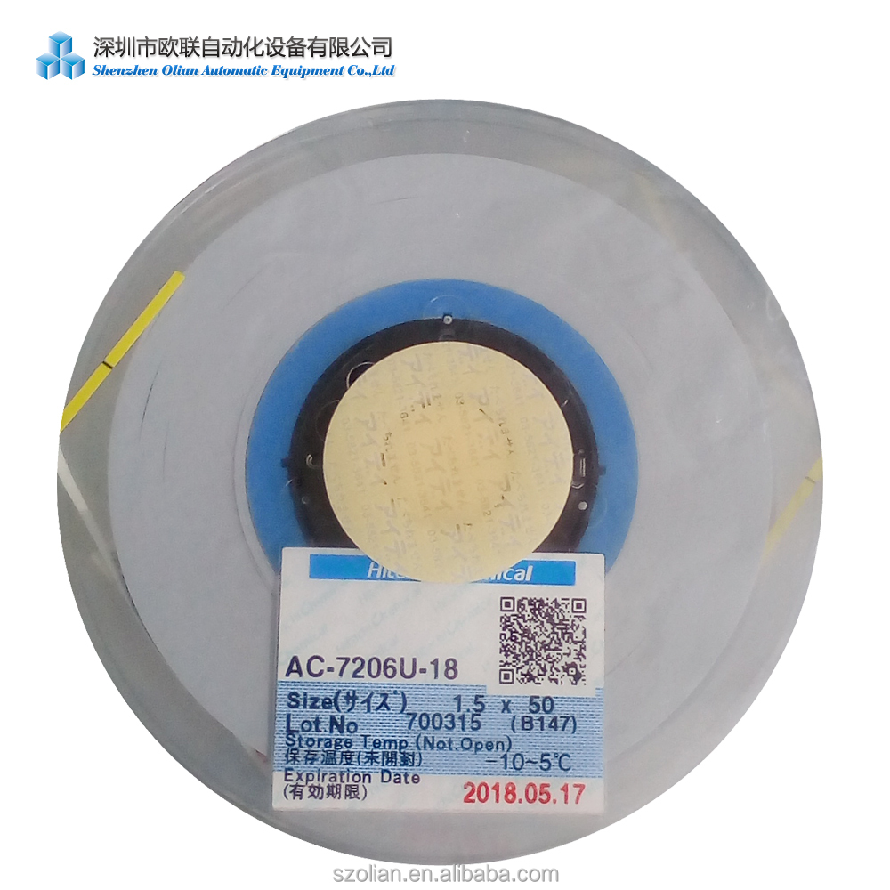 50M <strong>1</strong>.5mm 50*<strong>1</strong>.5mm ACF tape Hitachi AC7206-<strong>U</strong> ACF tape Anisotropic Conductive Film