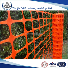 High Quality Orange barrier plastic safety fence / extruded polypropylene plastic mesh fencing