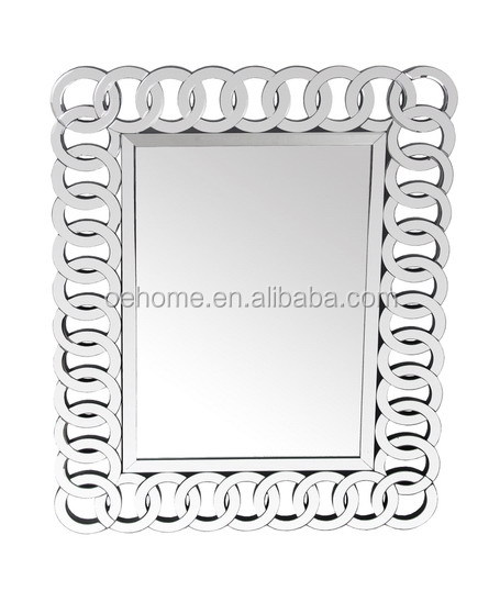 Chain Link Beveled Wall Mirror