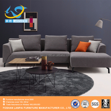 Modern appearance living room furniture fabric corner sofa high quality L-shape sofa