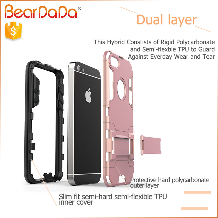 Hybrid 2 in 1 for iphone5 case