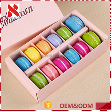 OEM/ODM without brand cheap square food packaging box cute paper packing boxes for macarons