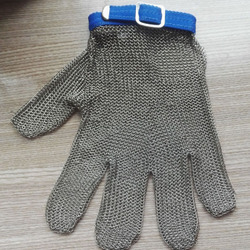 stainless steel wire mesh gloves/finger protection cutting