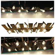 Hot sale black commercial pendant lighting fixtures with dimming, commercial chandeliers for office meeting room