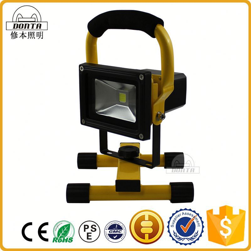 10w Factory price outdoor waterproof ip65 rechargeable led flood light